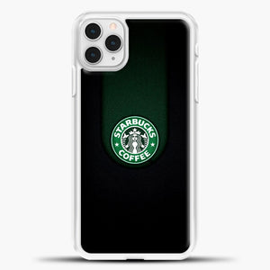 Starbucks Logo Black iPhone 11 Pro Case, White Plastic Case | casedilegna.com