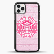 Load image into Gallery viewer, Starbucks Logo Pink Wall iPhone 11 Pro Case, Black Plastic Case | casedilegna.com