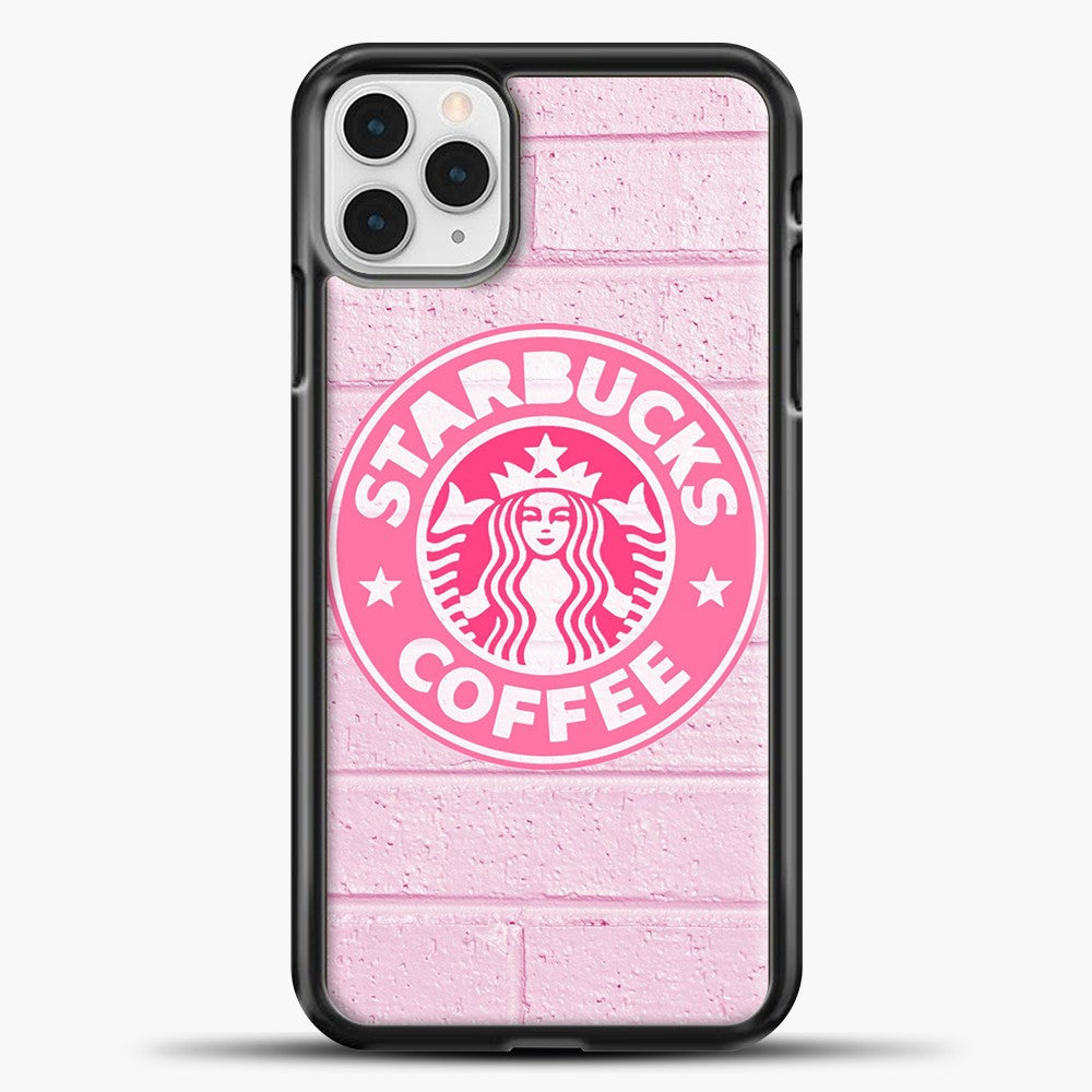 Starbucks Logo Pink Wall iPhone 11 Pro Case, Black Plastic Case | casedilegna.com