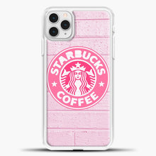 Load image into Gallery viewer, Starbucks Logo Pink Wall iPhone 11 Pro Case, White Plastic Case | casedilegna.com