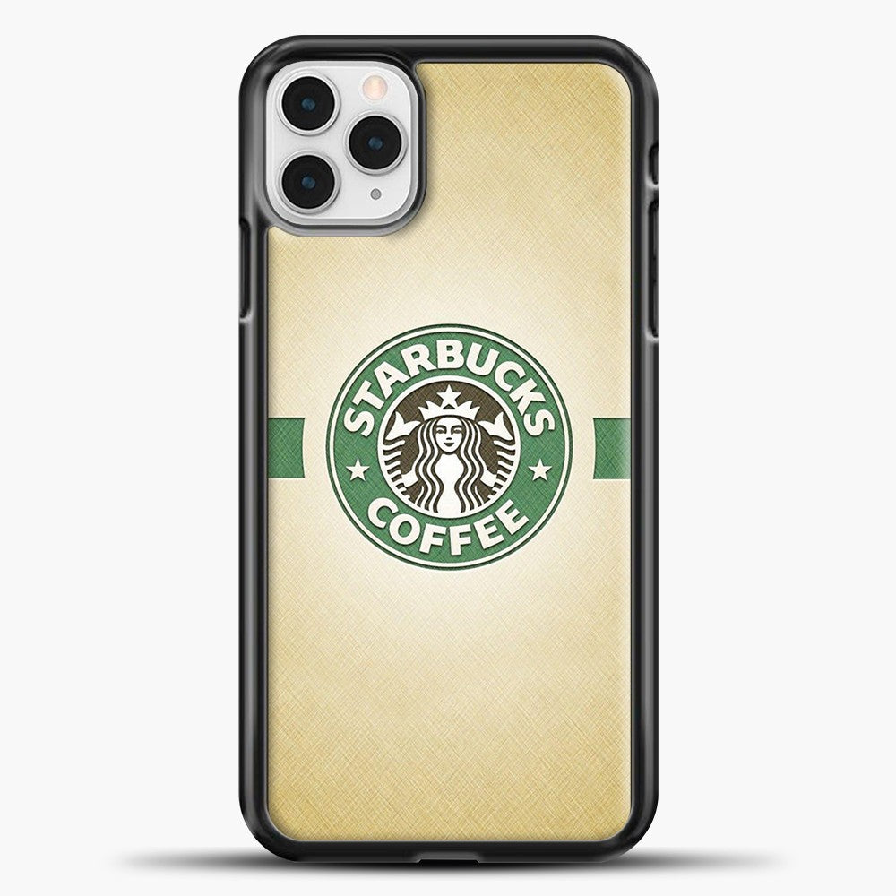 Starbucks Logo Stripe Green iPhone 11 Pro Case, Black Plastic Case | casedilegna.com