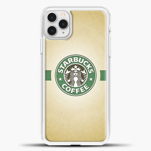 Starbucks Logo Stripe Green iPhone 11 Pro Case, White Plastic Case | casedilegna.com