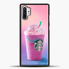 Load image into Gallery viewer, Starbucks Pastel Pink Samsung Galaxy Note 10 Plus Case, Black Plastic Case | casedilegna.com