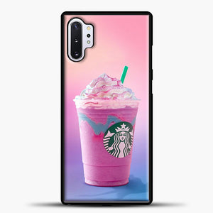 Starbucks Pastel Pink Samsung Galaxy Note 10 Plus Case, Black Plastic Case | casedilegna.com