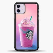 Load image into Gallery viewer, Starbucks Pastel Pink iPhone 11 Case, Black Plastic Case | casedilegna.com