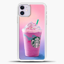 Load image into Gallery viewer, Starbucks Pastel Pink iPhone 11 Case, White Plastic Case | casedilegna.com
