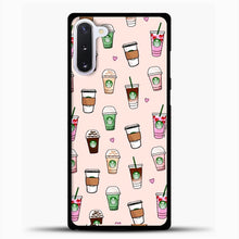 Load image into Gallery viewer, Starbucks Variant Pattern Samsung Galaxy Note 10 Case, Black Plastic Case | casedilegna.com