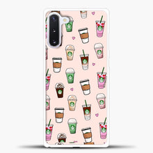 Load image into Gallery viewer, Starbucks Variant Pattern Samsung Galaxy Note 10 Case, White Plastic Case | casedilegna.com