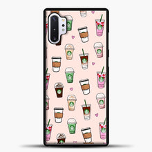 Load image into Gallery viewer, Starbucks Variant Pattern Samsung Galaxy Note 10 Plus Case, Black Plastic Case | casedilegna.com