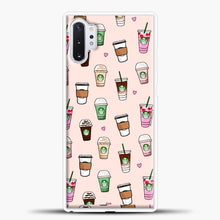Load image into Gallery viewer, Starbucks Variant Pattern Samsung Galaxy Note 10 Plus Case, White Plastic Case | casedilegna.com