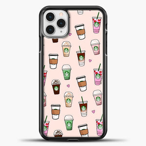Starbucks Variant Pattern iPhone 11 Pro Case, Black Plastic Case | casedilegna.com