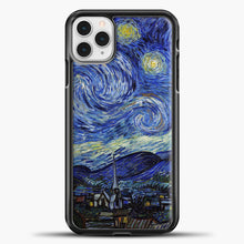 Load image into Gallery viewer, Starry Night Paint Wallpaper iPhone 11 Pro Case, Black Plastic Case | casedilegna.com