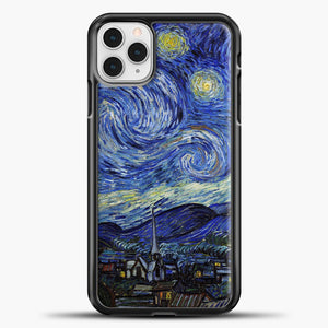 Starry Night Paint Wallpaper iPhone 11 Pro Case, Black Plastic Case | casedilegna.com