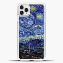 Load image into Gallery viewer, Starry Night Paint Wallpaper iPhone 11 Pro Case, White Plastic Case | casedilegna.com