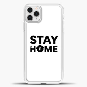 Stay At Home iPhone 11 Pro Case, White Plastic Case | casedilegna.com
