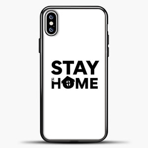Stay At Home iPhone XS Max Case, Black Plastic Case | casedilegna.com