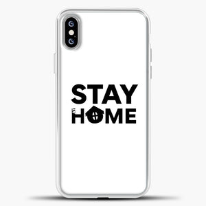 Stay At Home iPhone XS Max Case, White Plastic Case | casedilegna.com