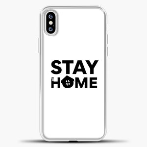 Stay At Home iPhone XS Case, White Plastic Case | casedilegna.com