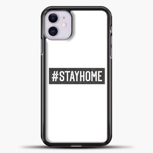 Stayhome Grey iPhone 11 Case, Black Plastic Case | casedilegna.com