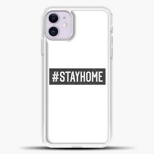 Stayhome Grey iPhone 11 Case, White Plastic Case | casedilegna.com