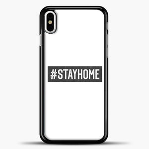 Stayhome Grey iPhone X Case, Black Plastic Case | casedilegna.com
