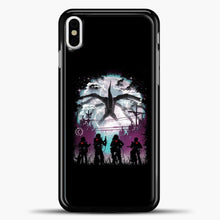 Load image into Gallery viewer, Stranger Things Black Background iPhone X Case, Black Plastic Case | casedilegna.com