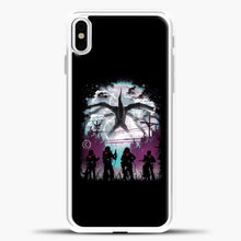 Load image into Gallery viewer, Stranger Things Black Background iPhone X Case, White Plastic Case | casedilegna.com