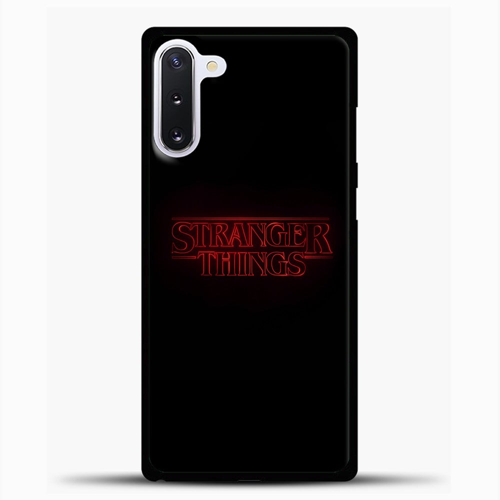 Stranger Things Black Samsung Galaxy Note 10 Case, Black Plastic Case | casedilegna.com