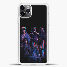 Load image into Gallery viewer, Stranger Things Black Wallpaper iPhone 11 Pro Max Case, White Plastic Case | casedilegna.com