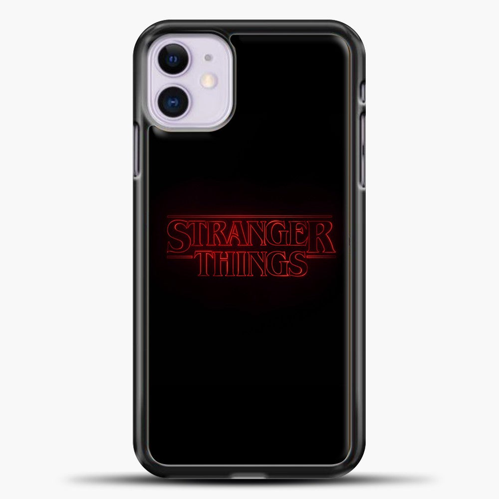 Stranger Things Black iPhone 11 Case, Black Plastic Case | casedilegna.com
