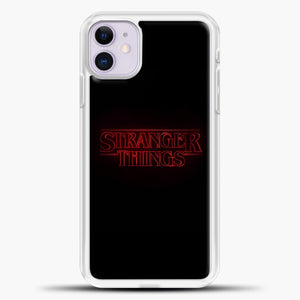 Stranger Things Black iPhone 11 Case, White Plastic Case | casedilegna.com
