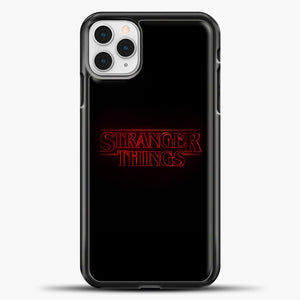 Stranger Things Black iPhone 11 Pro Case, Black Plastic Case | casedilegna.com