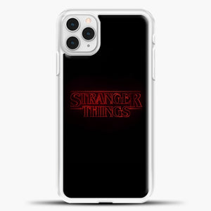 Stranger Things Black iPhone 11 Pro Case, White Plastic Case | casedilegna.com