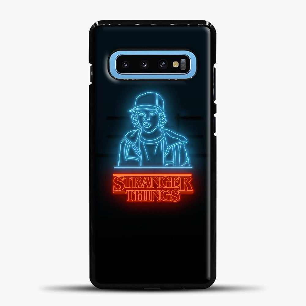 Stranger Things Blue Red Light Samsung Galaxy S10 Case, Black Plastic Case | casedilegna.com