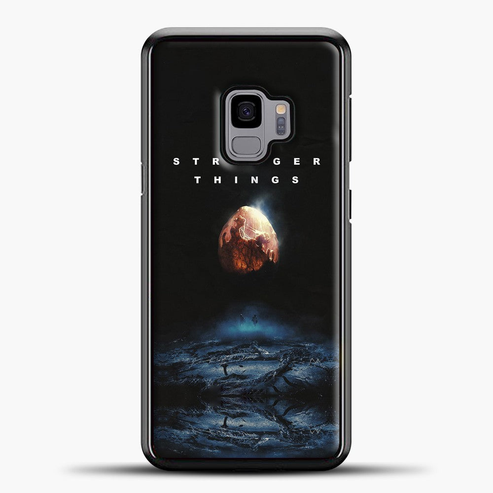 Stranger Things Blue Smoke Samsung Galaxy S9 Case, Black Plastic Case | casedilegna.com