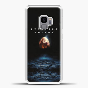 Stranger Things Blue Smoke Samsung Galaxy S9 Case, White Plastic Case | casedilegna.com