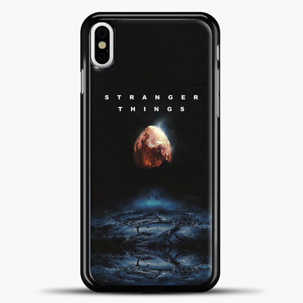 Stranger Things Blue Smoke iPhone X Case, Black Plastic Case | casedilegna.com