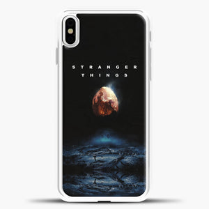 Stranger Things Blue Smoke iPhone X Case, White Plastic Case | casedilegna.com