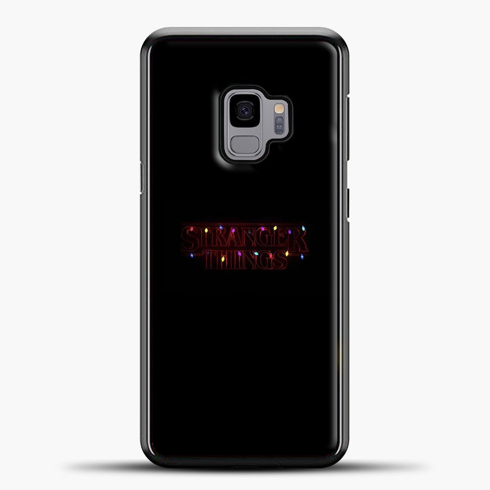 Stranger Things Colorful Lamp Samsung Galaxy S9 Case, Black Plastic Case | casedilegna.com