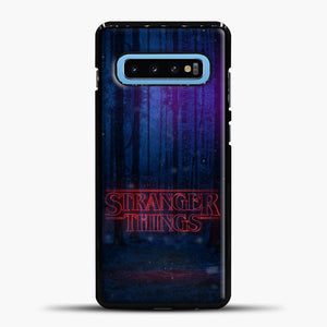 Stranger Things Forest Samsung Galaxy S10 Case, Black Plastic Case | casedilegna.com