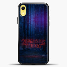Load image into Gallery viewer, Stranger Things Forest iPhone XR Case, Black Plastic Case | casedilegna.com