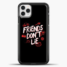 Load image into Gallery viewer, Stranger Things Friends Don't Lie iPhone 11 Pro Case, Black Plastic Case | casedilegna.com