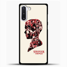 Load image into Gallery viewer, Stranger Things Head Samsung Galaxy Note 10 Case, Black Plastic Case | casedilegna.com