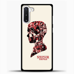 Stranger Things Head Samsung Galaxy Note 10 Case, Black Plastic Case | casedilegna.com
