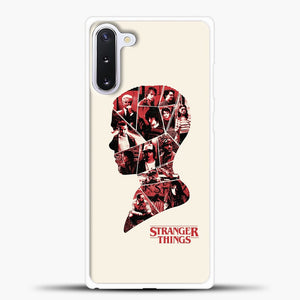 Stranger Things Head Samsung Galaxy Note 10 Case, White Plastic Case | casedilegna.com