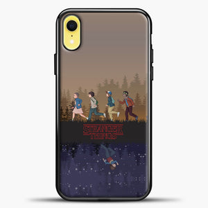 Stranger Things Running iPhone XR Case, Black Plastic Case | casedilegna.com
