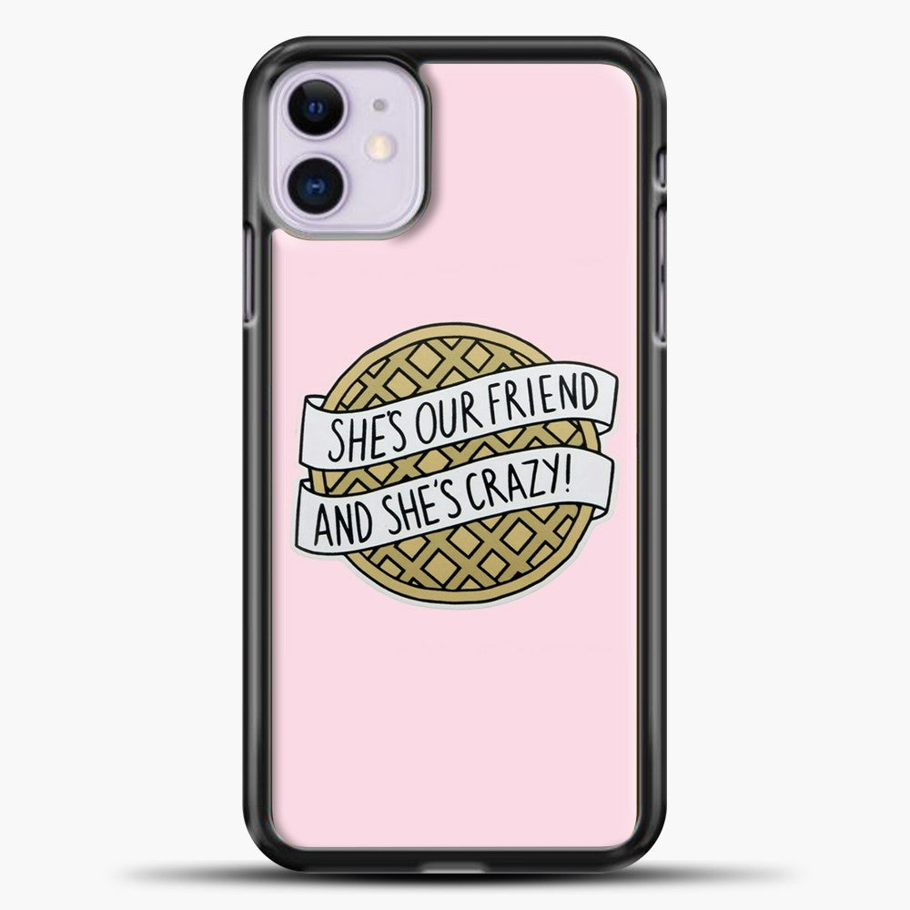 Stranger Things She's Our Friend iPhone 11 Case, Black Plastic Case | casedilegna.com