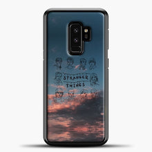 Load image into Gallery viewer, Stranger Things Sketch And Cloud Samsung Galaxy S9 Plus Case, Black Plastic Case | casedilegna.com