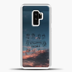 Stranger Things Sketch And Cloud Samsung Galaxy S9 Plus Case, White Plastic Case | casedilegna.com