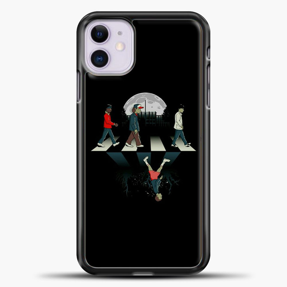 Stranger Things Static Assets iPhone 11 Case, Black Plastic Case | casedilegna.com